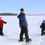 Snowshoeing is a family event