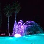 Villanova Park pool at night