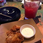 We do enjoy the happy hour menu options with free wings and $2 sliders definitely delicious and