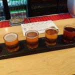 A flight of delicious beer