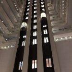 Lifts in hotel atrium