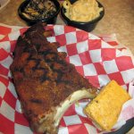 1/2 Rack of Pork Ribs with Collard Greens & Mac & Cheese