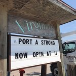 In a short time period after people could return Virginia's opened with free lunch to help out