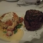 filet and crab cake....very tasty and nice sized portions