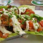 Wahoo Taco on lettuce