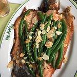 Deboned and butterflied trout to die for.