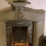 one of the many fireplaces