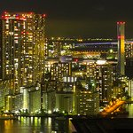 Looking out over Tokyo Gate Bridge to Tokyo Harbor from Park Hotel Tokyo