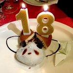 Dessert d'anniversaire à Magokoro !