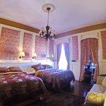 Balcony room, two queen beds.