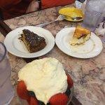 Zabaglione, cheesecake and Russian cake