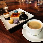 The coffee was perfect with this tray of desserts!