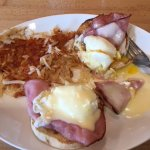 Try the awesome Eggs Benedict