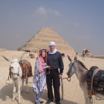 Checking out the pyramids in Egypt!