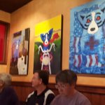 paintings at Blue Dog Cafe
