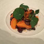 Slow cooked carrots, feta, smoked almonds, pepitas, agretti, oca