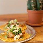 TInga de Pollo Tacos.   Tacos de Tinga de Pollo