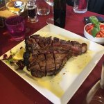 This medium-rare 4 inch thick x 10 in long steak was good to the point beyond words!!