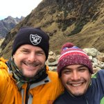 Goofing with our tour guide and my new friend Dimas on top of Dead Woman's Pass