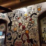 Mario cartoons on walls