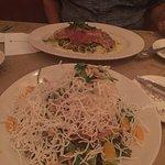Chinese chicken salad and chicken pesto. Yum
