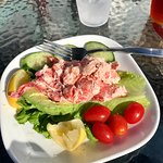 My yummy Dock Square Dingy with lobster salad.