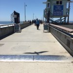 Checking out the pier