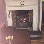 Cosy evening by the fire, new owners are making many positive changes, well done!