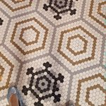Each tile laid separately by italians with imperfections in pattern believing only God was perfe