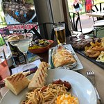 Lunch - Spaghetti, Steak, Garlic bread and Margaritas :-)