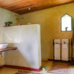 The bathroom and toilet ensuite
