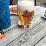 Delicious Amstel beer, and a delicious sandwich for under 10€