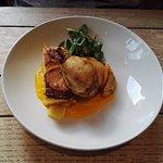 chicken & potatoes with pumpkin puree