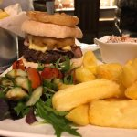 Great burger and chips