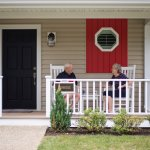 Relaxing front porches, wonderful for eating summer breakfast or a sunset glass of wine.