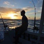 Beautiful sunrise while fishing