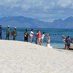 Arrival at Viwa Island