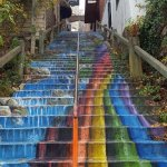 A staircase just down the hill from us