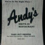 Andy's Drivein Restaurant and Igloo Menu
