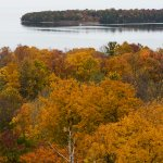 Fall color overlooking Green Bay.