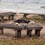 Campfire area along Green Bay.