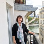 View of the Seine River from room 401 balcony