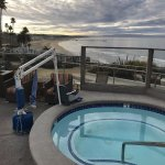 hot tub with a bit of a view to Pismo Pier