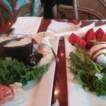 stone crabs and salad