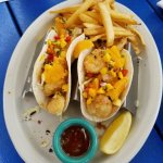 Baja shrimp tacos & Cuban sandwich