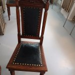 Traditional straight back chair