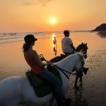 Horseback riding on Pelada Beach