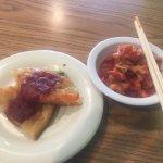 Pancake w/Chili Sauce & Kimchi