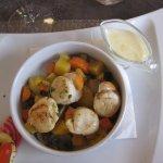 noix de St Jacques aux petits légumes