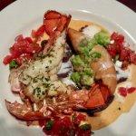 Seared lobster